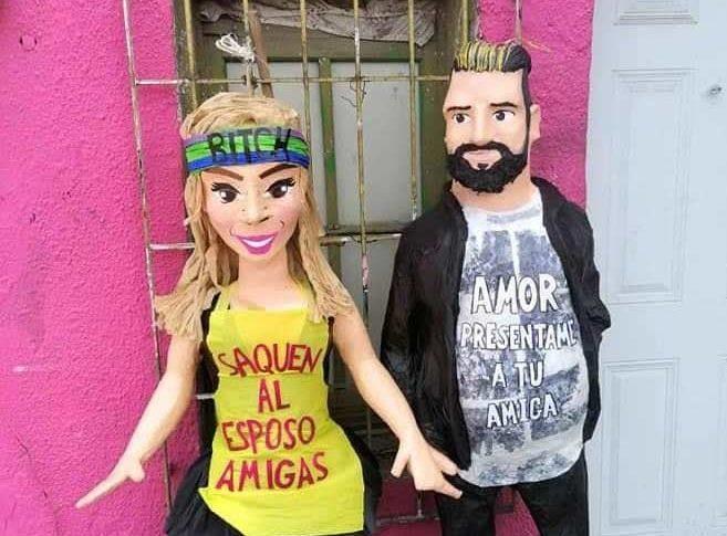 Las piñatas de Karla Panini y Américo Garza, hechas por piñatería Ramírez.