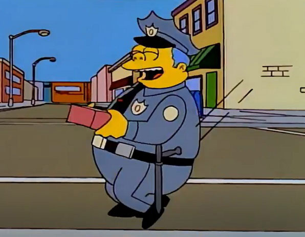 "Jefe Gorgory con sus ""rosquillas""."