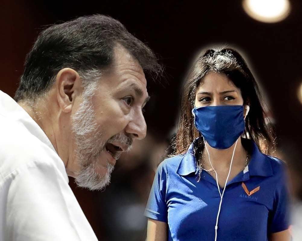 Gerardo Fernández Noroña niega usar cubrebocas.