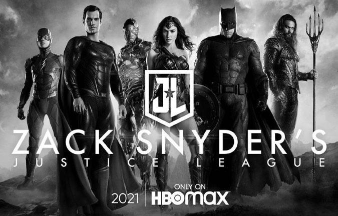 Poster de la versión de Zack Snyder de Justice League.