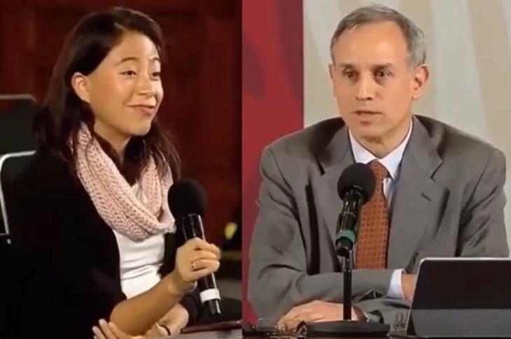 Reportera de El Sol de México al terminar su pregunta a López-Gatell.