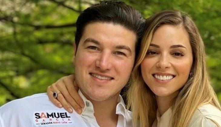 Senador Samuel García con su esposa influencer.