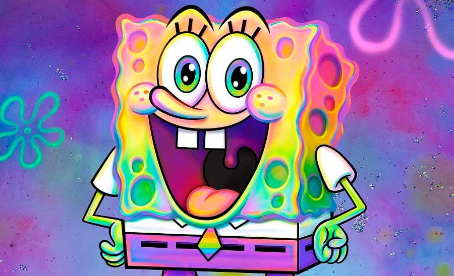 Imagen de Bob Esponja en la cuenta de Twitter de Nickelodeon.