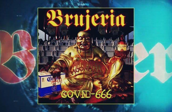"""Portada del single de Brujeria de la canción """"covid-666""""."""