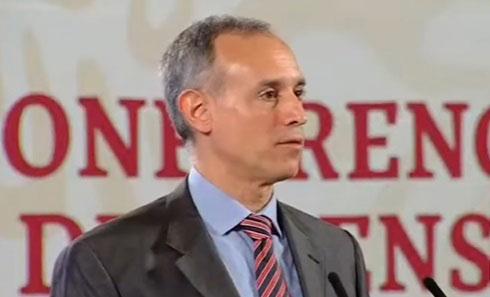 El doctor López Gatell en conferencia de prensa.