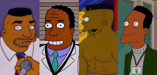 Personajes afroamericanos en los Simpson.