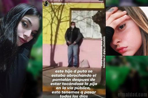 Martiicoria18 y Giu, quienes señalaron de pervertido al hombre con ACV.