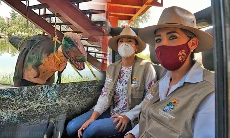 Marina del Pilar y Janeth Rubio en el recorrido.