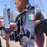Elementos de la Guardia Estatal en Tijuana, Baja California.