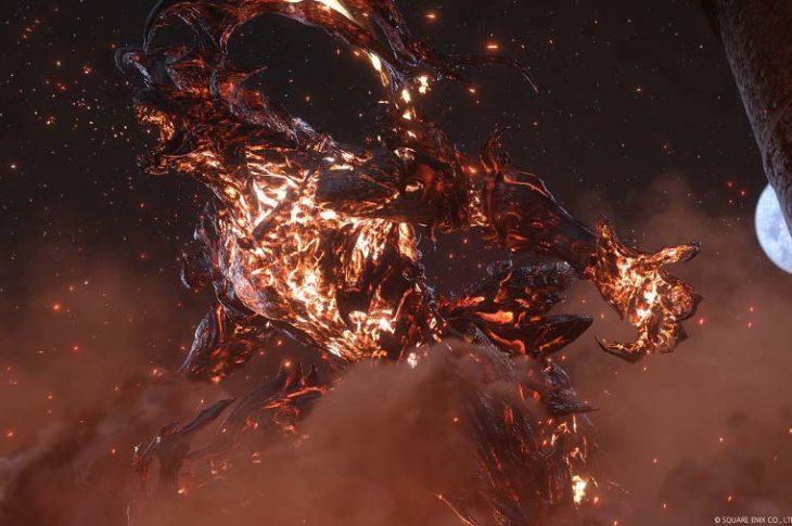 Captura de pantalla del trailer de Final Fantasy XVI.
