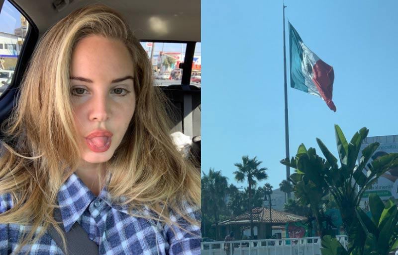 Fotografías que subió Lana del Rey a su cuenta de Twitter.