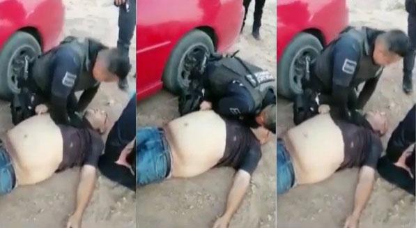 Policías le salvan la vida.
