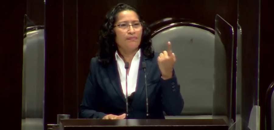 Abelina López, diputada federal de Morena.