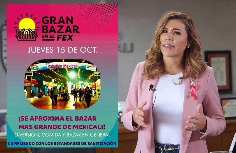 Flyer del bazar en el Fex y Marina del Pilar en su comunicado.