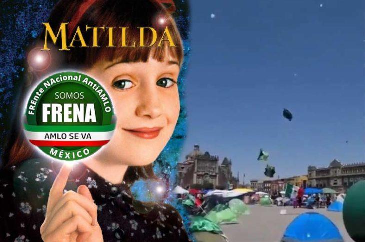 Matilda hizo de las suyas en el plantón de FRENA.