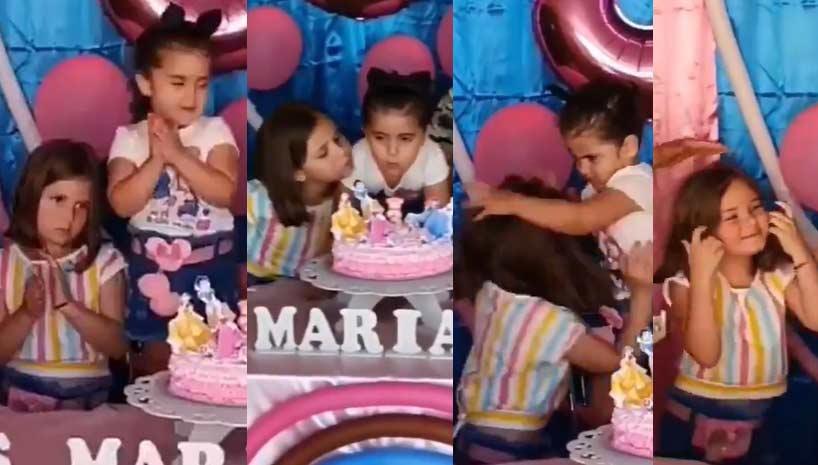La fiesta de cumpleaños de una niña arruinada por otra.