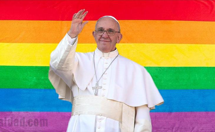 El Papa Francisco a favor del matrimonio igualitario.
