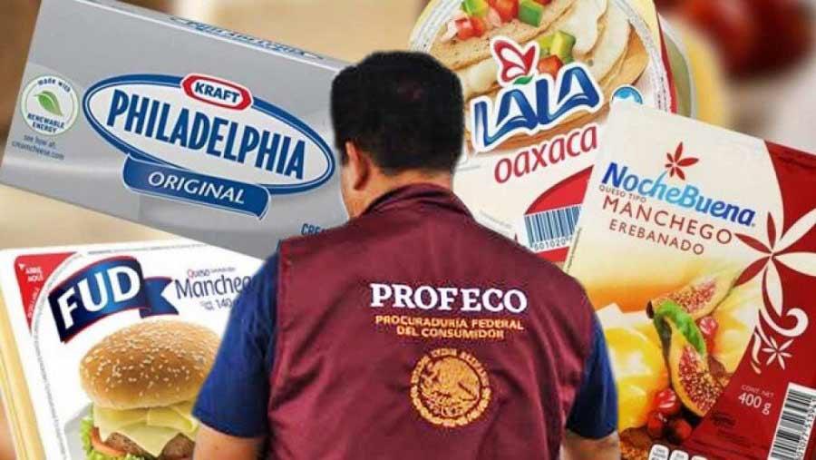 Profeco prohíbe venta de quesos y yogurt de marcas reconocidas.