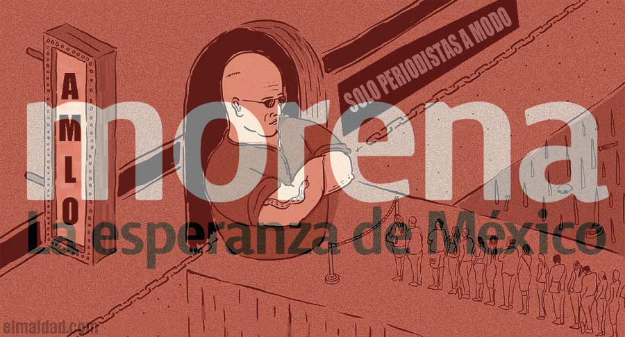 Medios incómodos no entran a eventos de AMLO en Mexicali.