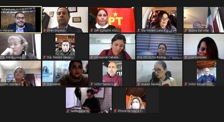 Diputados de la actual legislatura del congreso de Baja California.