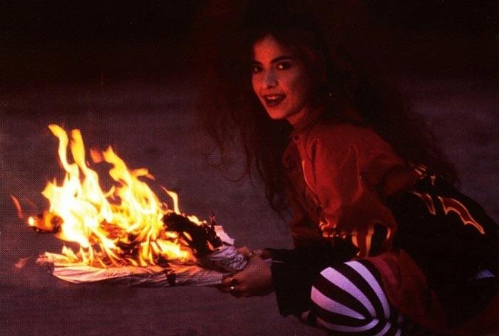 """Sesión de fotos para el disco Más Turbada Que Nunca"""" (1994)."""