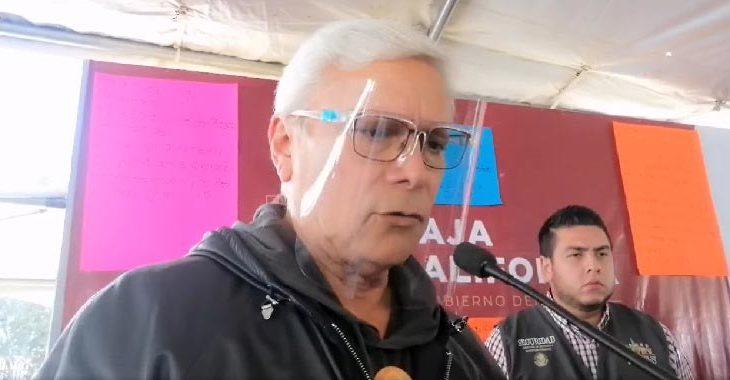 Jaime Bonilla frente a los medios este domingo.