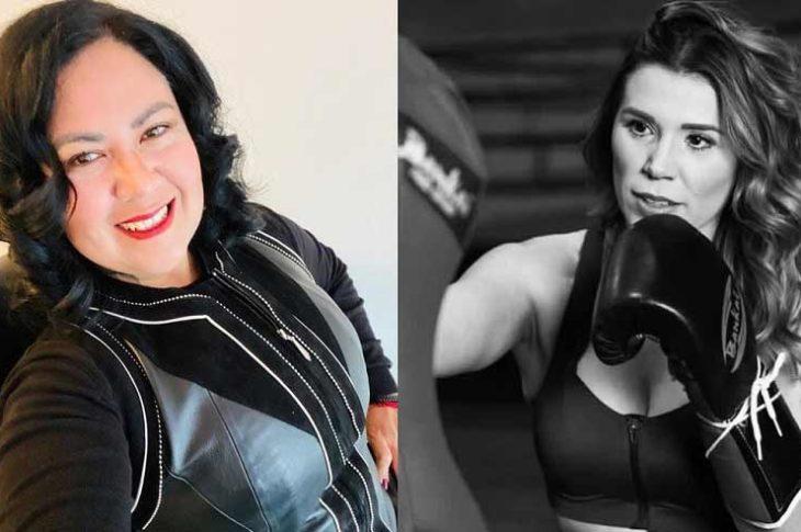 Alejandra León y Marina del Pilar.