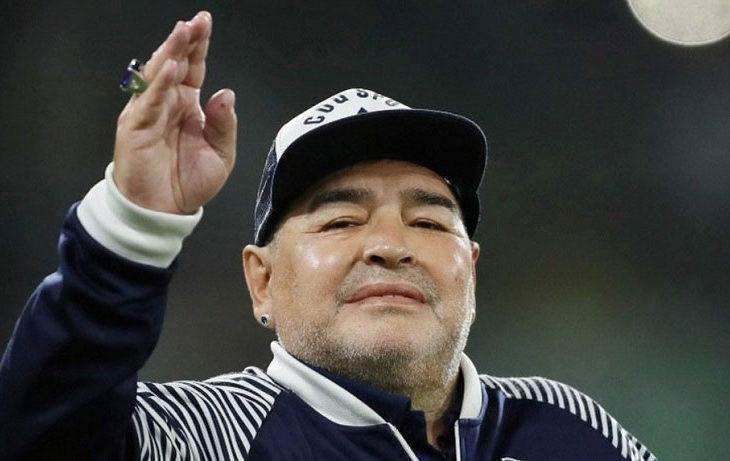 Foto reciente de Maradona.