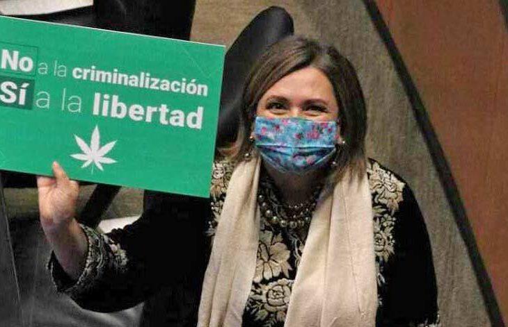 Senadora a favor de los mariguanos.
