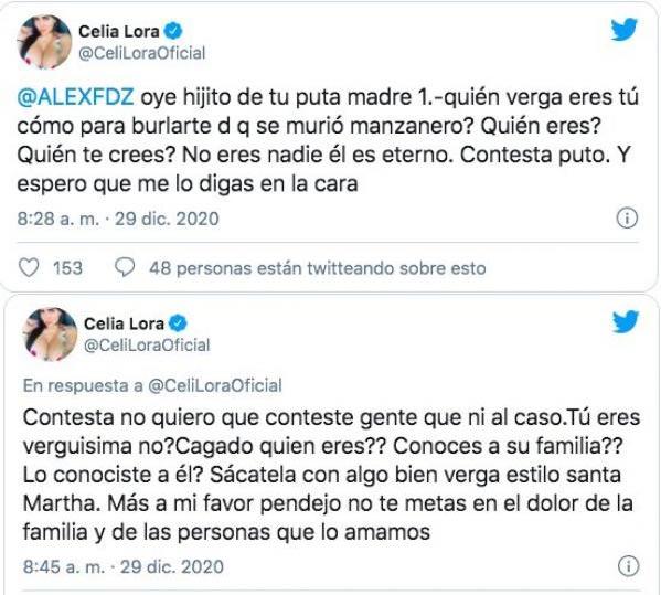 Tweets de Celia Lora.