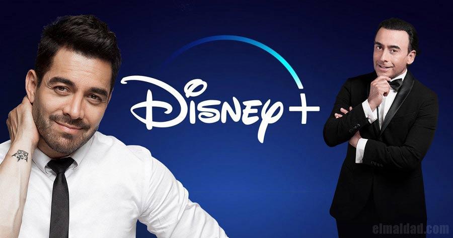 Omar Chaparro y Adal Ramones en Disney Plus.