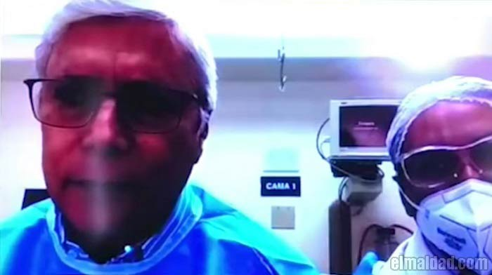 Jaime Bonilla desde el hospital.