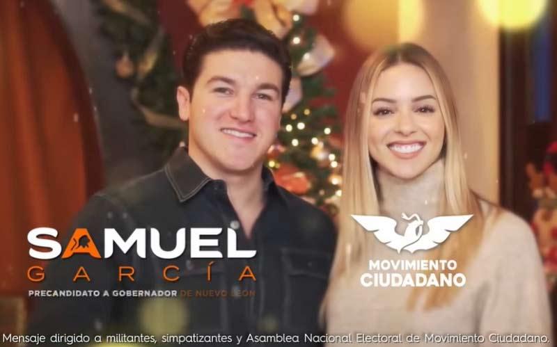 Samuel y Mariana en el spot navideño.