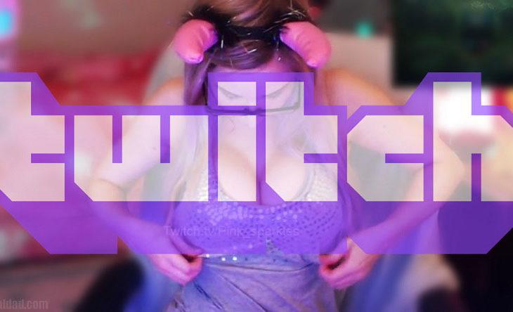 Una streamer de Twitch haciendo lo suyo.