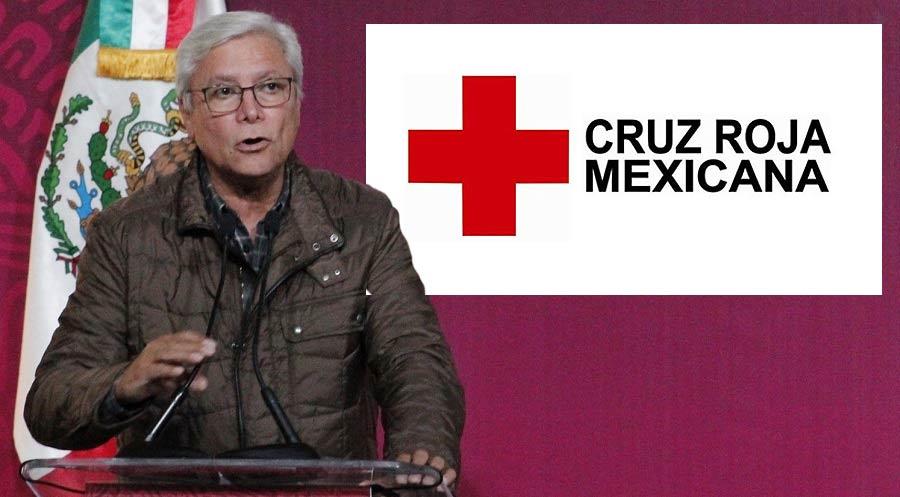 Jaime Bonilla quita donativo a la Cruz Roja.