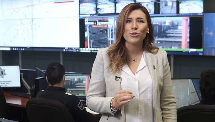 Marina del Pilar en su spot sobre combate a la inseguridad.