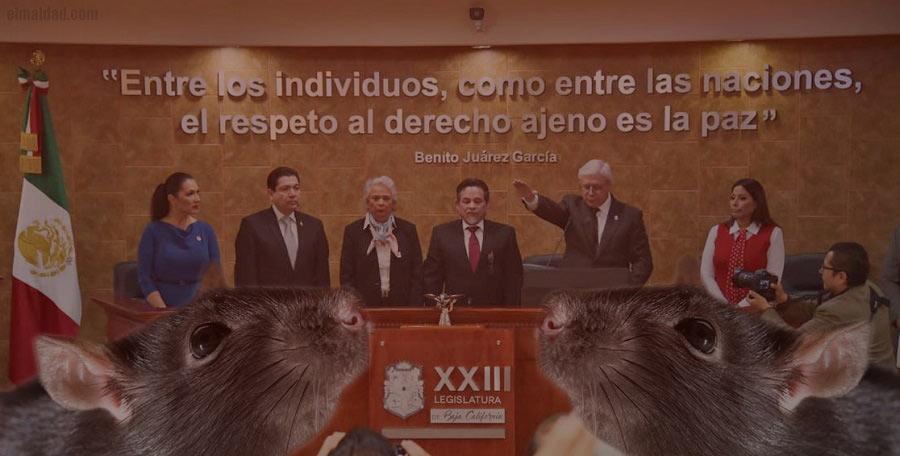 Jaime Bonilla en su toma de protesta como gobernador de Baja California.