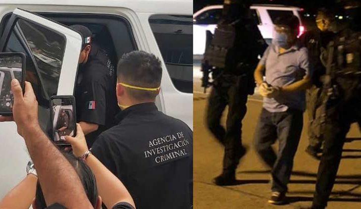 Detención de Mario Marín y primera imagen portando esposas.