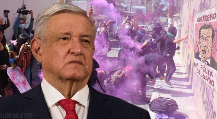 """AMLO dice """"ya chole"""" al reclamo contra Salgado Macedonio."""