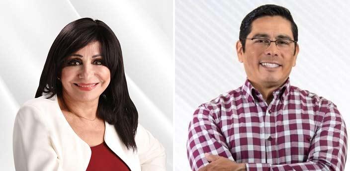 Norma Bustamante y Juan Manuel Molina, candidatos de Morena.