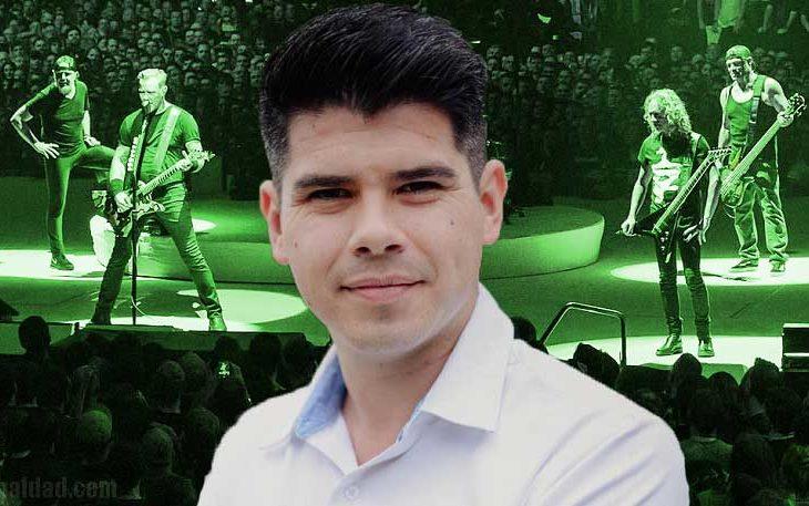 Carlos González promete traer a Metallica si gana.
