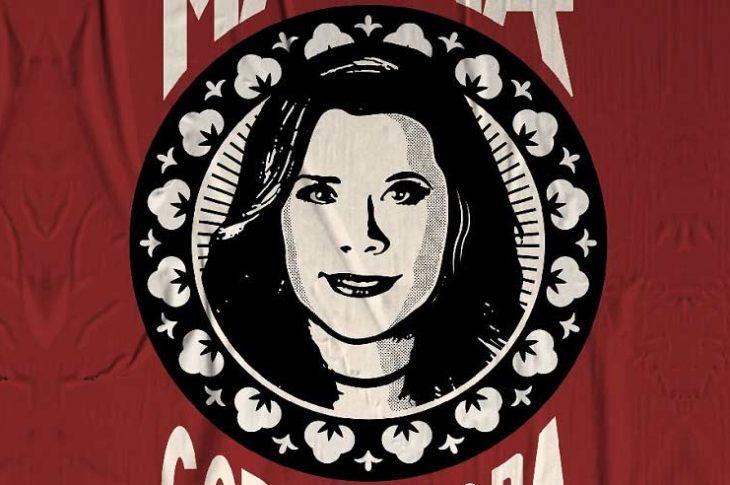Diseño partidista de Marina del Pilar, un poco de corte stalinista.