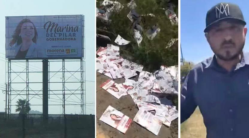 """Espectacular de Marina del Pilar, volantes y ex-funcionario """"cantando un tiro"""" al reportero."""