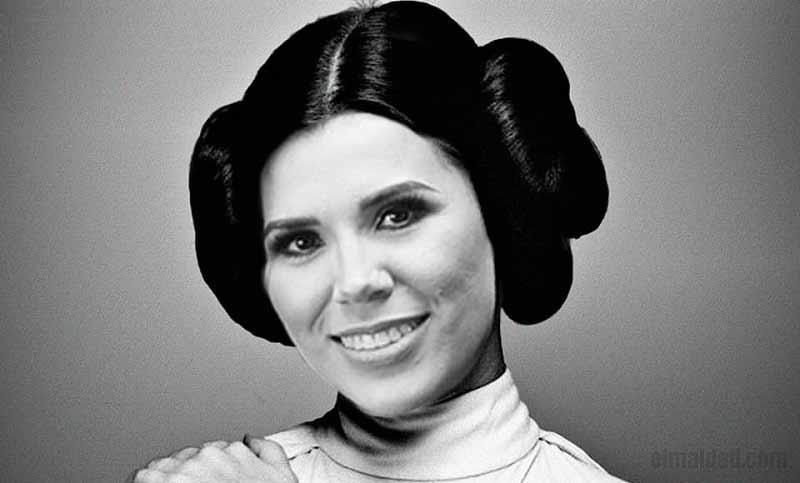 Marina del Pilar se cree Leia.