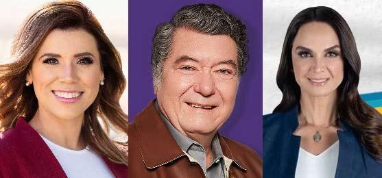 Marina del Pilar, Jorge Hank y Lupita Jones.