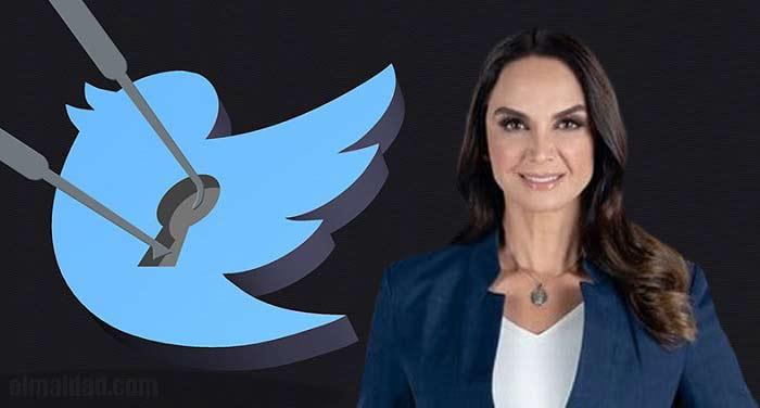 Lupita Jones dice que le hackearon el Twitter.