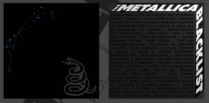 Re-edición del black album acompañada del The Metallica Blacklist.