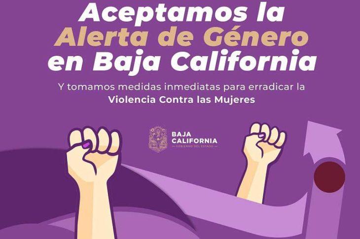 Parte de la imagen del comunicado institucional de Bonilla sobre la alerta de género.