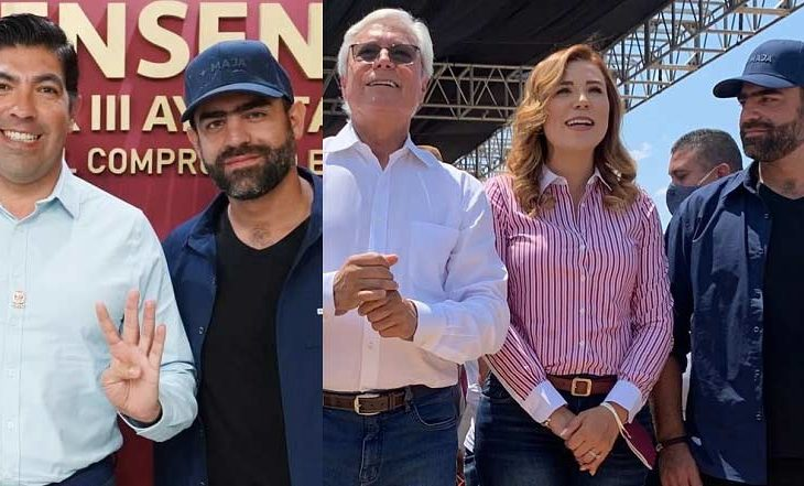 Arturo Islas con políticos de Morena de Baja California.