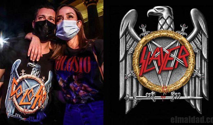 Colosio se fusiló el logo de estética nazi de Slayer.